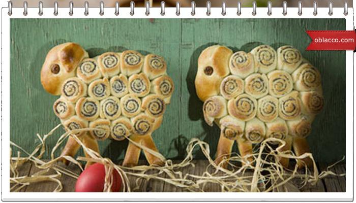 барашек рождественский, пирог из дрожжевого теста