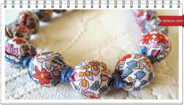 Бусы текстильные своими руками