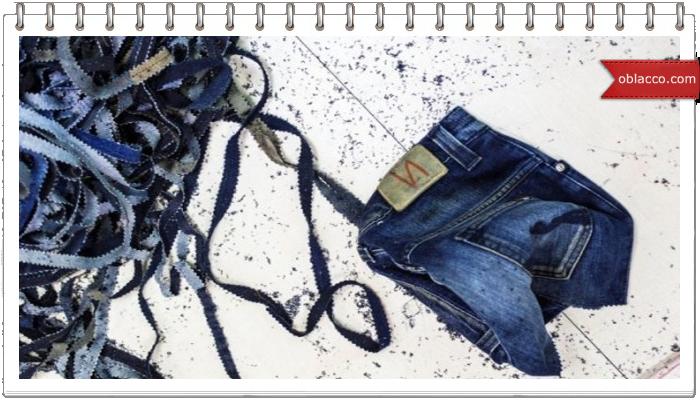 Корзинка из джинсы своими руками