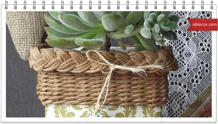 Как сплести подвесные корзины для цветов