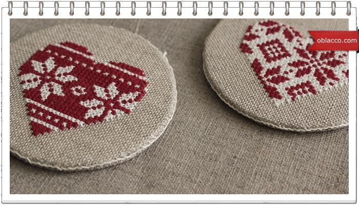 валентинка вышивка <u>вышивка ко Дню Святого Валентина: сердечко крестом. Схема</u> схемы