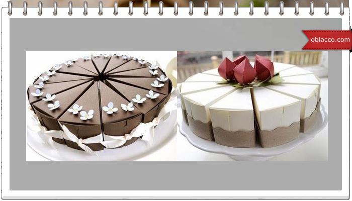 Бумажный торт на свадьбу