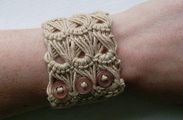 браслет вязаный крючком
