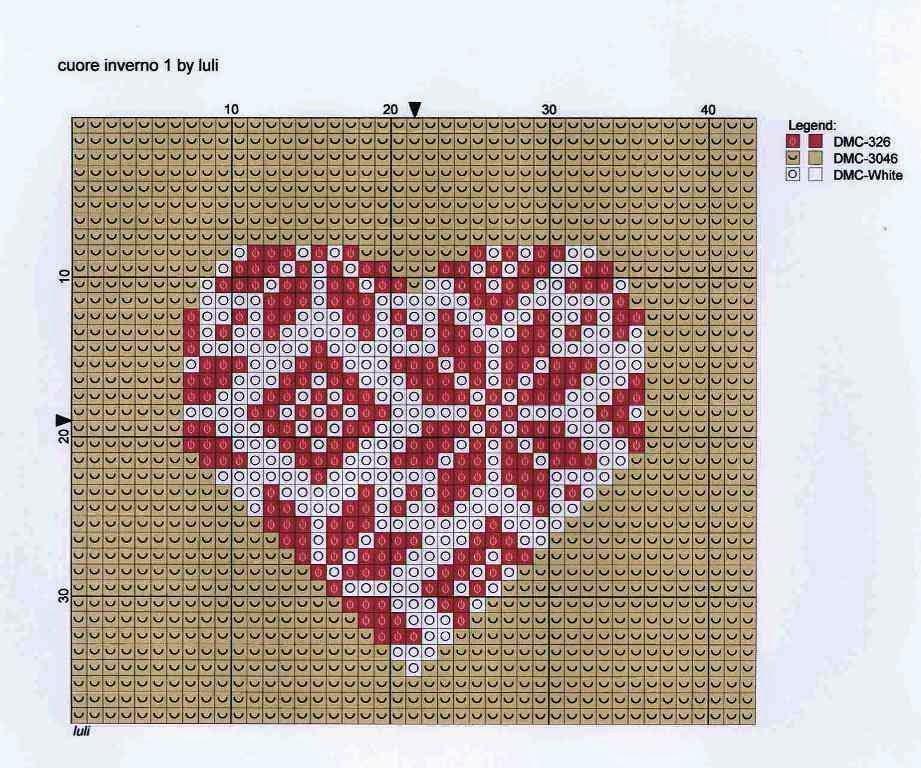Вышивка валентинки крестом 73