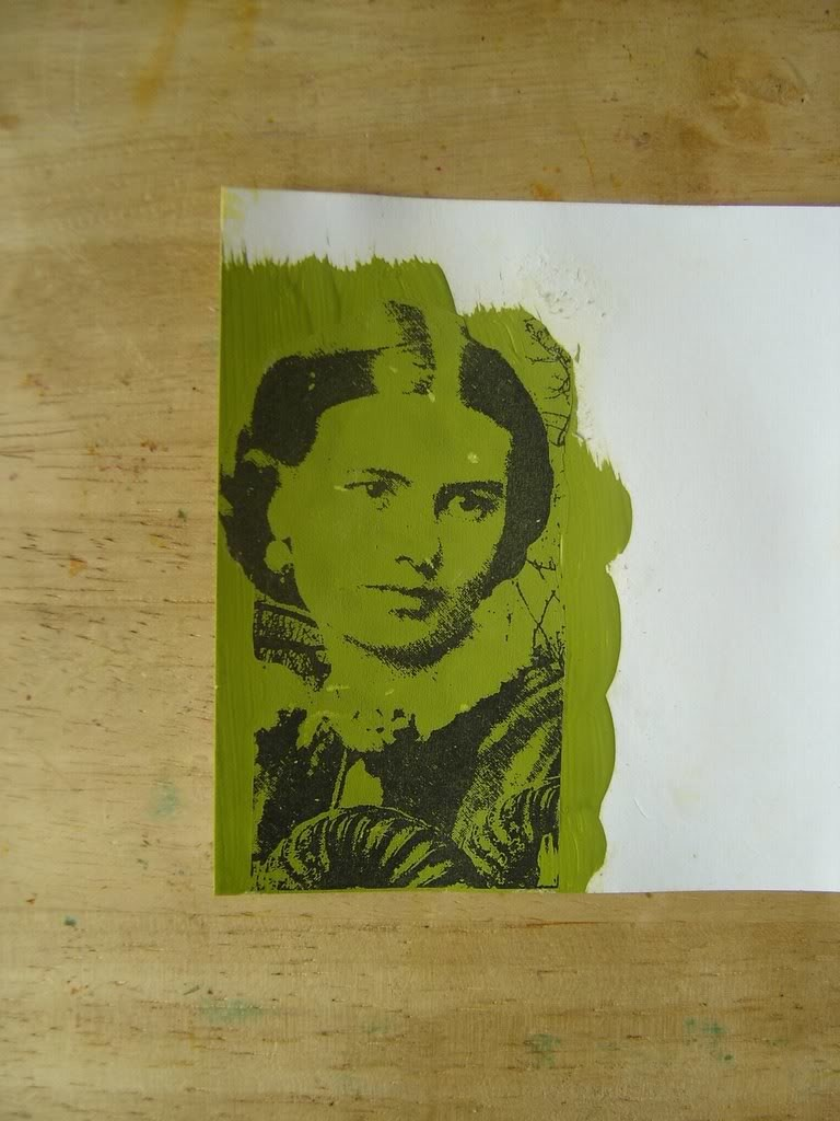 Перенос изображения с помощью акриловой краски