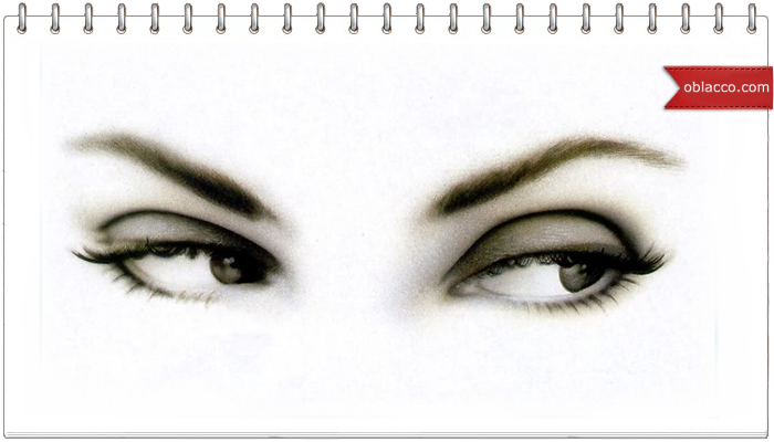 шаблон глаза