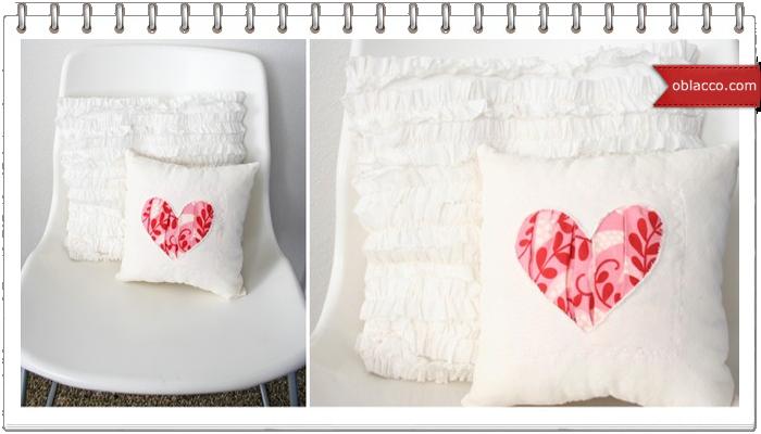 подушка сердечко мастер класс