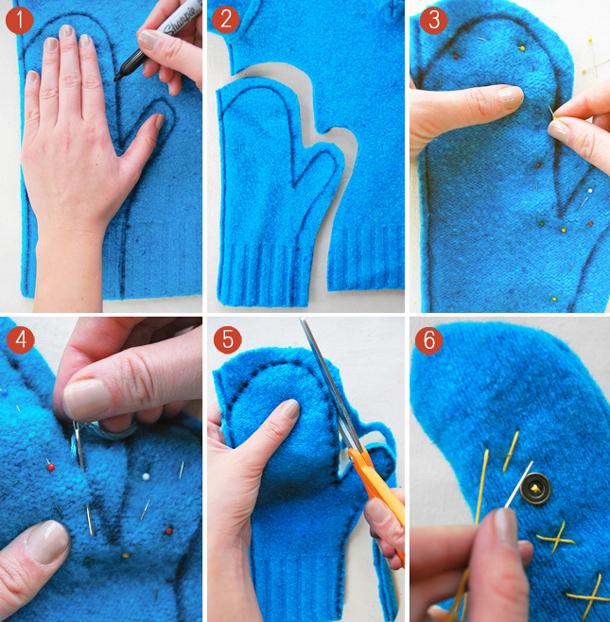 Что можно сшить из старого свитера своими руками 23