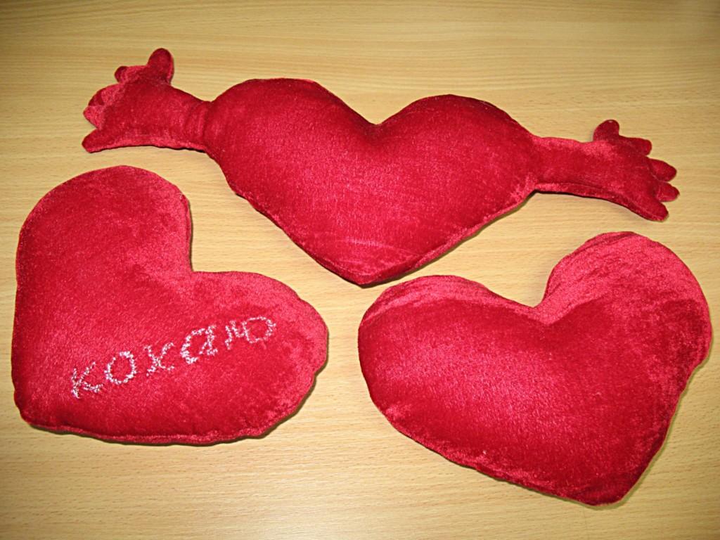 Подушка сердечки своими руками 62