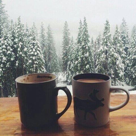 кофе зима