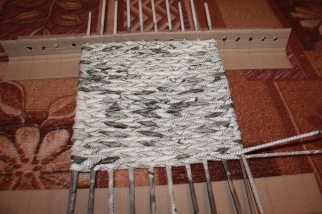 плетение квадратного дна