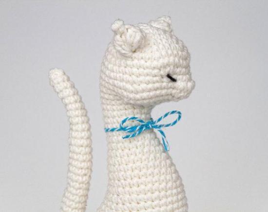 Кошка блондинка, вязаная крючком, схемы, описание   oblacco