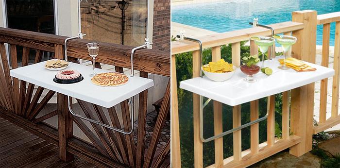 Съемный столик для балкона купить..