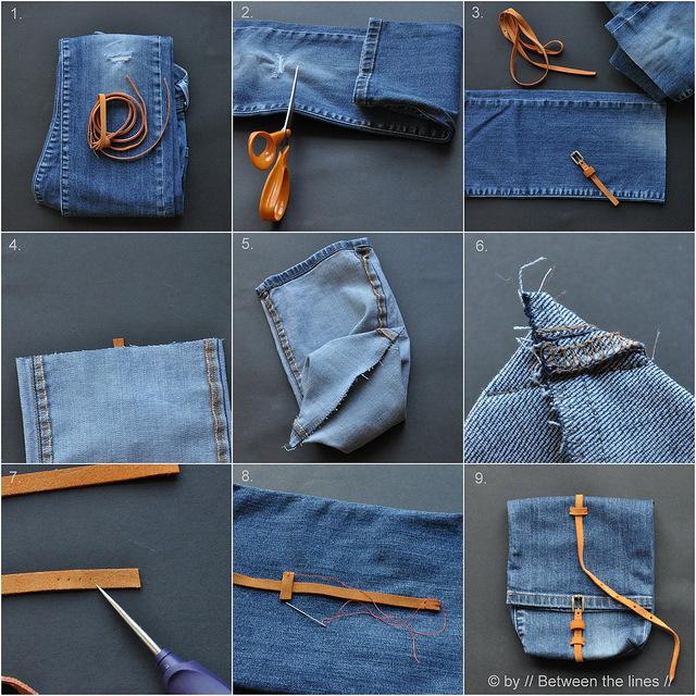 сумка из джинса