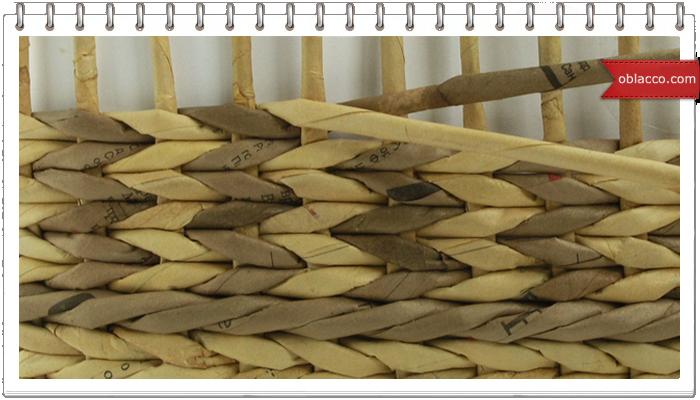 Плетеный короб с красивым узором