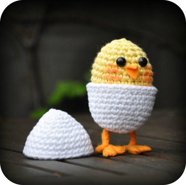 цыпленок вязание крючком