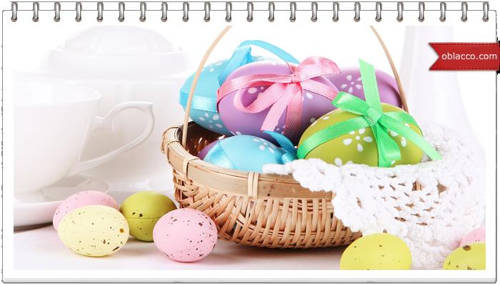 Пасхальная корзинка с дном из лотка для яиц