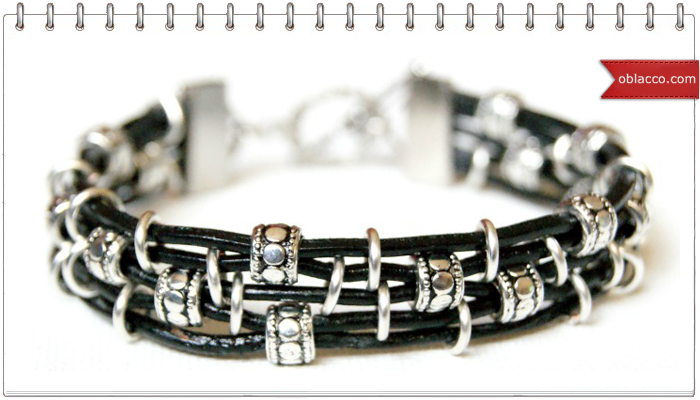 bracelet-crafts кожаный браслет мастер класс