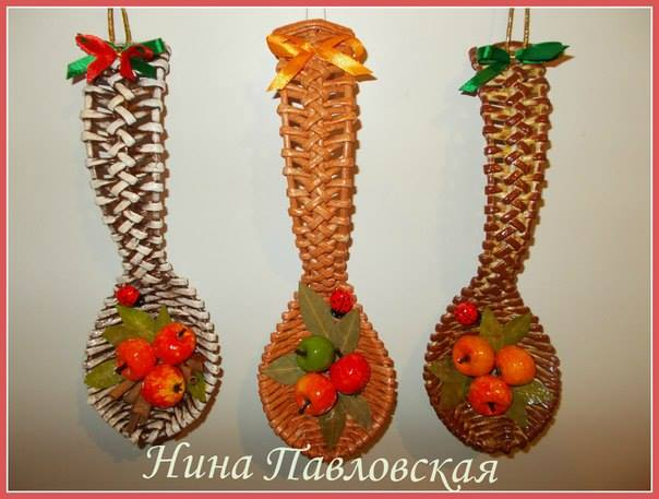 loshka pletenie плетение из газетных трубочек