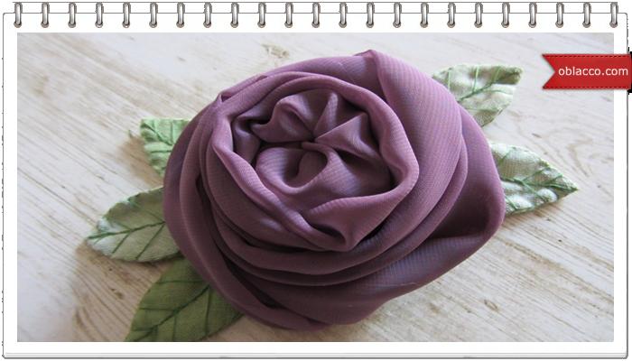 Английская роза - заколка для волос
