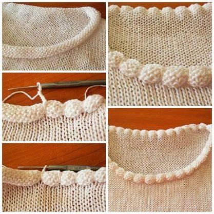 обработка головины вязание спицами