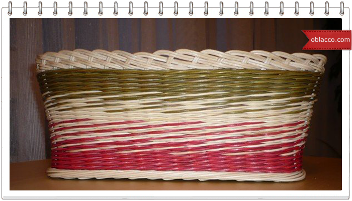 Одноцветный градиент Плетение корзиночки с градиентом