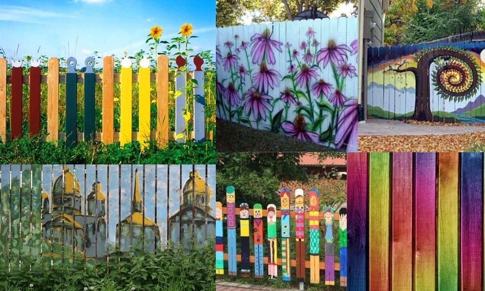 Что нарисовать на заборе своими руками 22