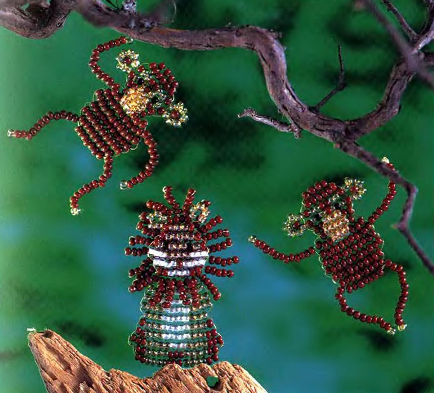 обезьяна из бисера символ года