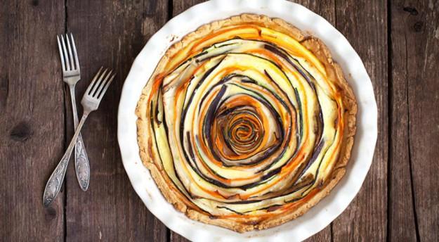 пирог овощной радуга