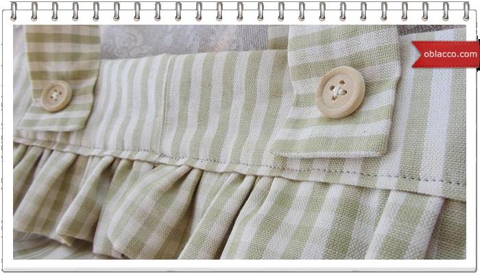корзинка подвесная из ткани