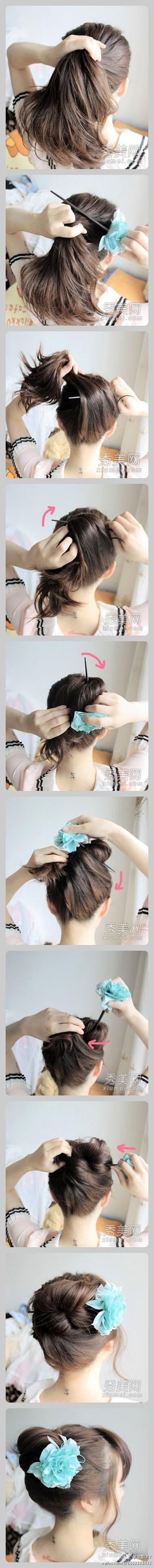 Японские прически для девушек своими руками фото
