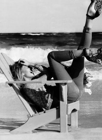 море пляж девушка настроение