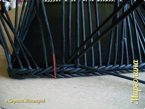 korob короб ситцевое плетение цветной плетение из газетных трубочек