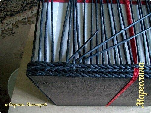 Расстояние между стойками в газетном плетении