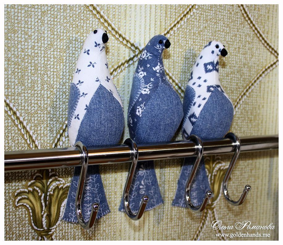 Текстильные птицы своими руками