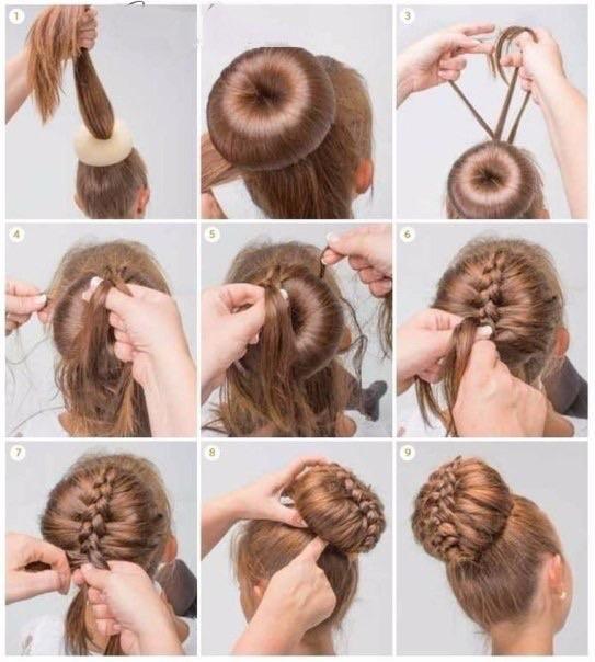 Прически для девочек на средние волосы видео уроки