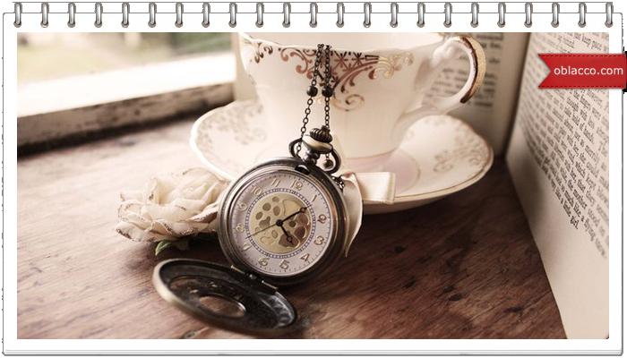 Часы кофейный декор