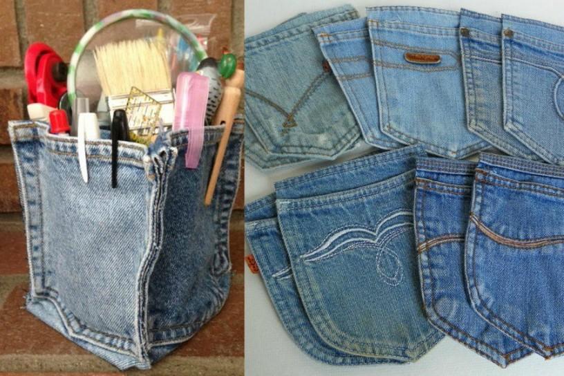 Своими руками изделия из старых джинс
