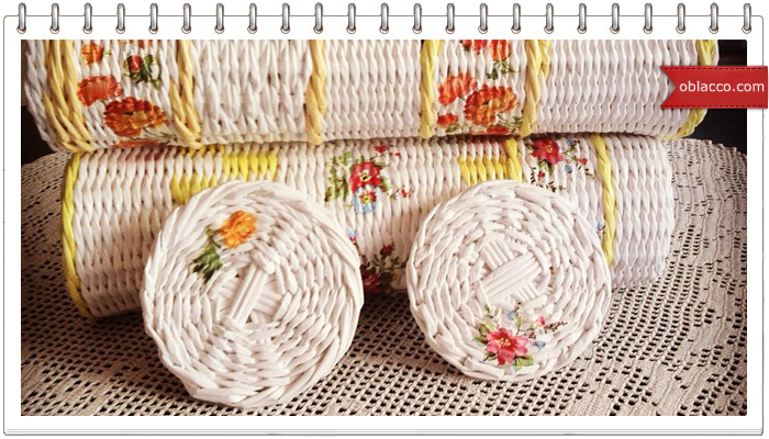 крышка плетеная