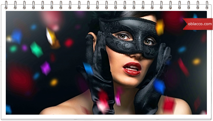 Новогодняя маска в стиле канзаши. МК