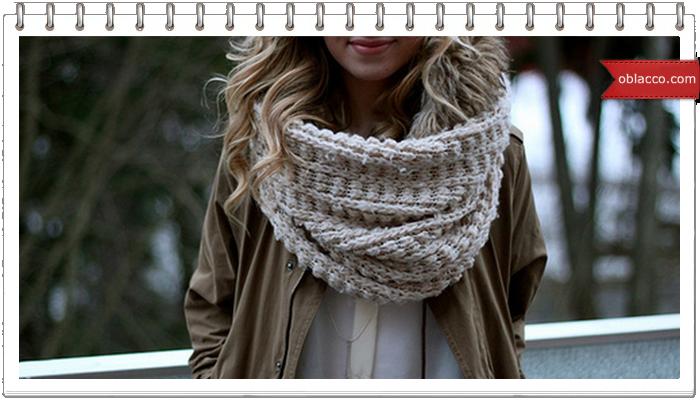 Вязание на пальцах. Шнурковая пряжа на шарф