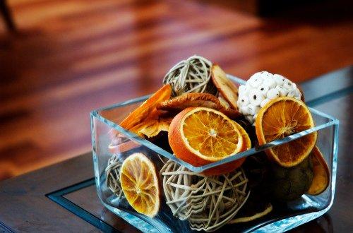 Сушеный апельсин в декоре