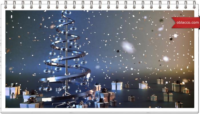 Новогодняя елка, имитация чеканки