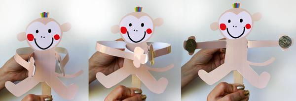 Как сделать обезьян из бумаги