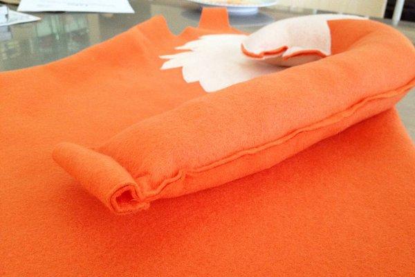 костюм лисички своими руками - хвост с наполнителем
