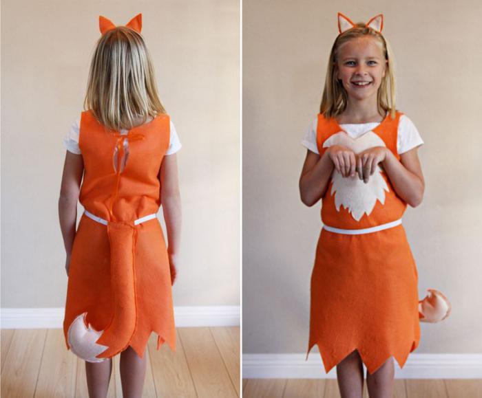 Костюм лисы для девочки своими руками выкройка