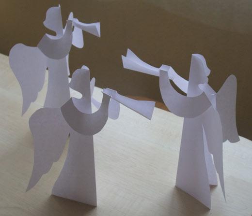 Ангел из бумаги своими руками фото
