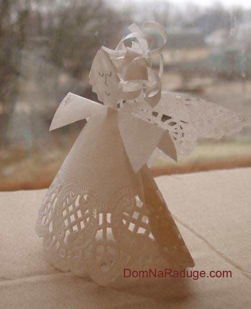 Ангел рождественский своими руками из бумаги 74