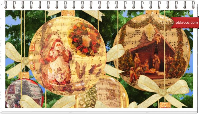 Новогодние шары в деревенском стиле. Плетение из бумажных трубочек