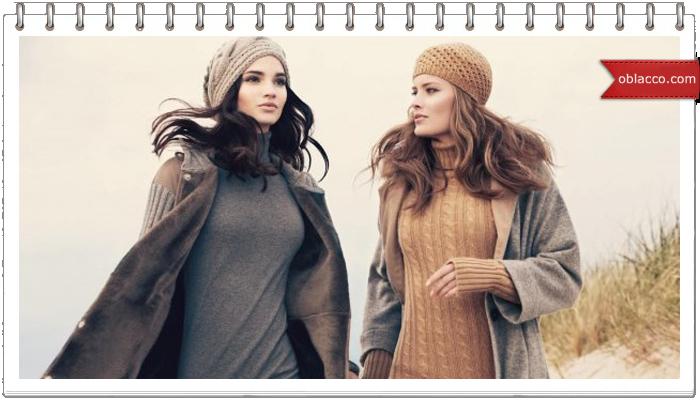 Модные трикотажные платья зима 2016